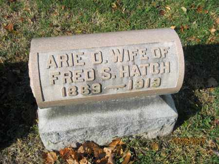 HATCH, ARIE D - Franklin County, Ohio | ARIE D HATCH - Ohio Gravestone Photos