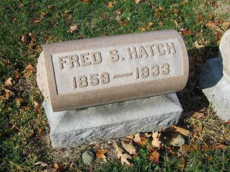 HATCH, FRED S - Franklin County, Ohio | FRED S HATCH - Ohio Gravestone Photos