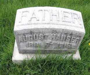 HAUSER, AUGUST - Franklin County, Ohio | AUGUST HAUSER - Ohio Gravestone Photos