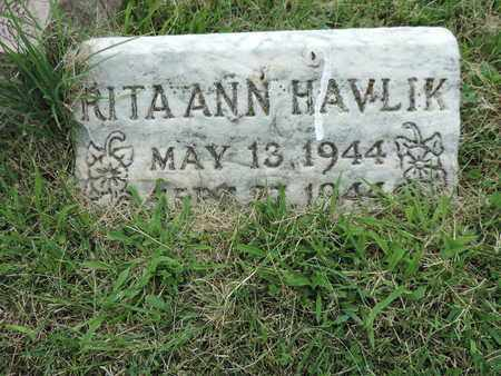 HAVLIK, RITA ANN - Franklin County, Ohio | RITA ANN HAVLIK - Ohio Gravestone Photos