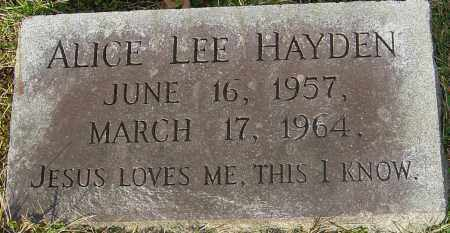 HAYDEN, ALICE LEE - Franklin County, Ohio | ALICE LEE HAYDEN - Ohio Gravestone Photos