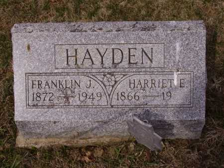 HAYDEN, FRANKLIN J. - Franklin County, Ohio | FRANKLIN J. HAYDEN - Ohio Gravestone Photos