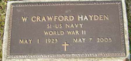 HAYDEN, W CRAWFORD - Franklin County, Ohio | W CRAWFORD HAYDEN - Ohio Gravestone Photos