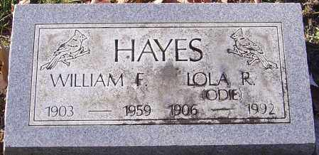HAYES, WILLIAM F - Franklin County, Ohio | WILLIAM F HAYES - Ohio Gravestone Photos