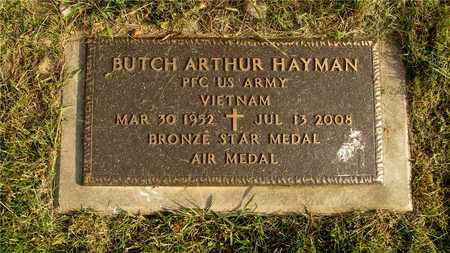 HAYMAN, BUTCH ARTHUR - Franklin County, Ohio | BUTCH ARTHUR HAYMAN - Ohio Gravestone Photos