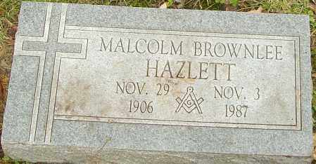 HAZLETT, MALCOLM - Franklin County, Ohio | MALCOLM HAZLETT - Ohio Gravestone Photos