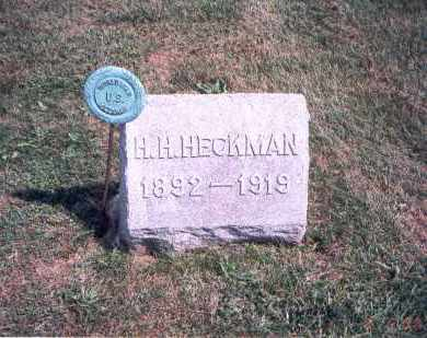 HECKMAN, H. H. - Franklin County, Ohio | H. H. HECKMAN - Ohio Gravestone Photos