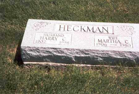 HECKMAN, MARTHA C. - Franklin County, Ohio | MARTHA C. HECKMAN - Ohio Gravestone Photos