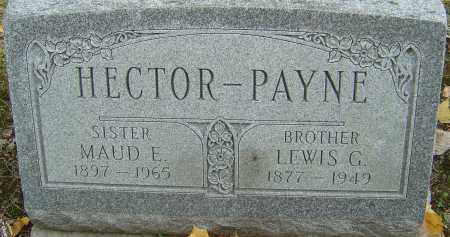 PAYNE HECTOR, MAUD E - Franklin County, Ohio | MAUD E PAYNE HECTOR - Ohio Gravestone Photos