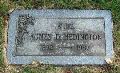 HEDINGTON, AGNES D. - Franklin County, Ohio | AGNES D. HEDINGTON - Ohio Gravestone Photos