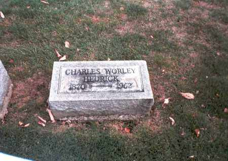 HEDRICK, CHARLES WORLEY - Franklin County, Ohio | CHARLES WORLEY HEDRICK - Ohio Gravestone Photos