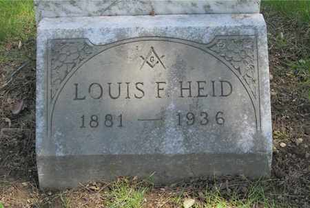 HEID, LOUIS F. - Franklin County, Ohio | LOUIS F. HEID - Ohio Gravestone Photos