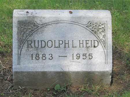 HEID, RUDOLPH L. - Franklin County, Ohio | RUDOLPH L. HEID - Ohio Gravestone Photos