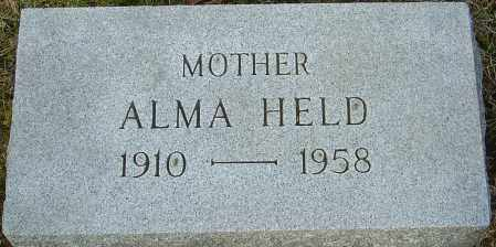 HELD, ALMA - Franklin County, Ohio | ALMA HELD - Ohio Gravestone Photos