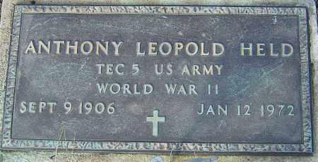 HELD, ANTHONY LEOPOLD - Franklin County, Ohio | ANTHONY LEOPOLD HELD - Ohio Gravestone Photos