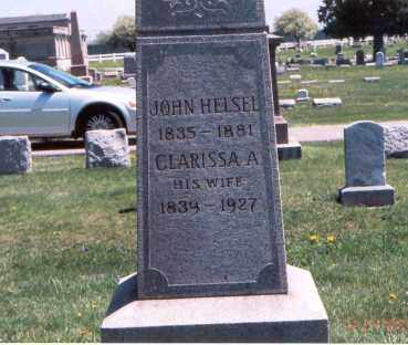 HELSEL, JOHN - Franklin County, Ohio | JOHN HELSEL - Ohio Gravestone Photos