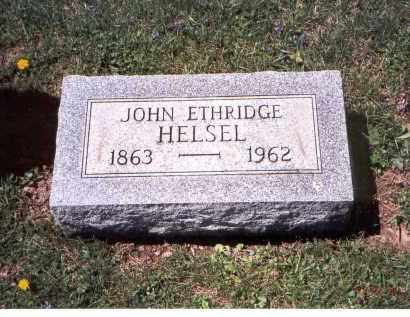 HELSEL, JOHN ETHRIDGE - Franklin County, Ohio | JOHN ETHRIDGE HELSEL - Ohio Gravestone Photos