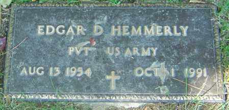 HEMMERLY, EDGAR D - Franklin County, Ohio | EDGAR D HEMMERLY - Ohio Gravestone Photos