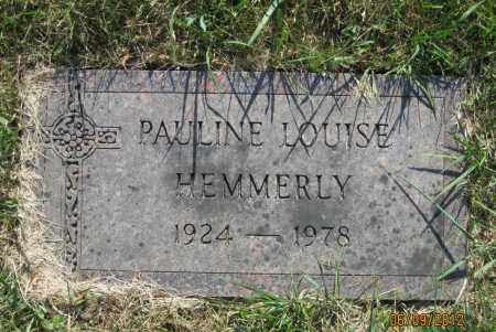 HEMMERLY, PAULINE LOUISE - Franklin County, Ohio | PAULINE LOUISE HEMMERLY - Ohio Gravestone Photos