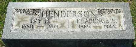HENDERSON, CLARENCE E - Franklin County, Ohio | CLARENCE E HENDERSON - Ohio Gravestone Photos
