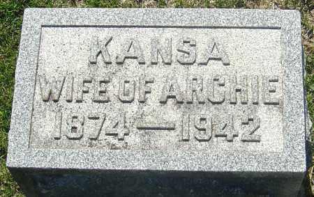 "HENDRICKSON, KANSADA ""KANSA"" - Franklin County, Ohio | KANSADA ""KANSA"" HENDRICKSON - Ohio Gravestone Photos"