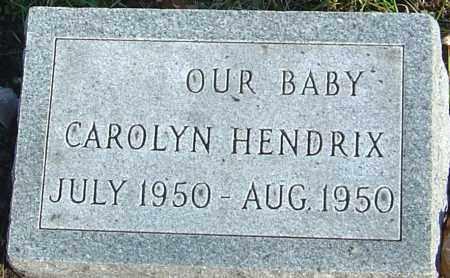HENDRIX, CAROLYN - Franklin County, Ohio | CAROLYN HENDRIX - Ohio Gravestone Photos