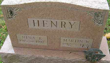 HENRY, NINA K - Franklin County, Ohio | NINA K HENRY - Ohio Gravestone Photos