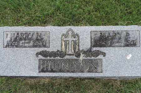 HENSON, MARY P. - Franklin County, Ohio | MARY P. HENSON - Ohio Gravestone Photos