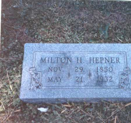 HEPNER, MILTON H. - Franklin County, Ohio | MILTON H. HEPNER - Ohio Gravestone Photos