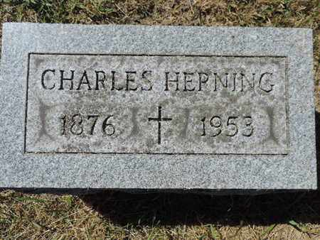 HEPNING, CHARLES - Franklin County, Ohio | CHARLES HEPNING - Ohio Gravestone Photos