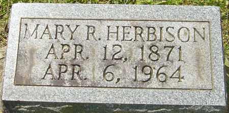 HERBISON, MARY R - Franklin County, Ohio   MARY R HERBISON - Ohio Gravestone Photos