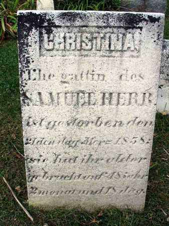 HERR, CHRISTINA - Franklin County, Ohio | CHRISTINA HERR - Ohio Gravestone Photos