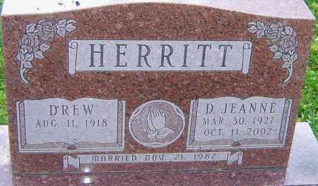 HERRITT, D JEANNE - Franklin County, Ohio | D JEANNE HERRITT - Ohio Gravestone Photos