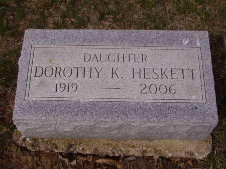 HESKETT, DOROTHY K. - Franklin County, Ohio | DOROTHY K. HESKETT - Ohio Gravestone Photos