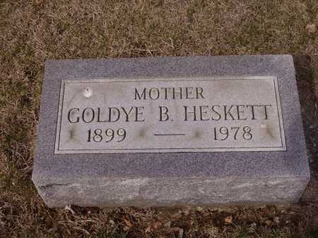 HESKETT, GOLDYE B. - Franklin County, Ohio | GOLDYE B. HESKETT - Ohio Gravestone Photos