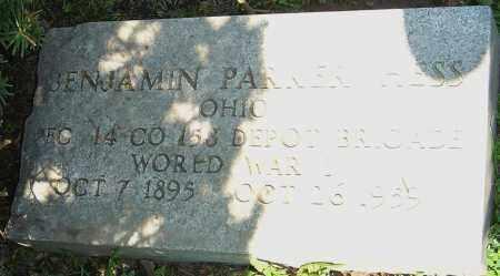 HESS, BENJAMIN PARKER - Franklin County, Ohio | BENJAMIN PARKER HESS - Ohio Gravestone Photos