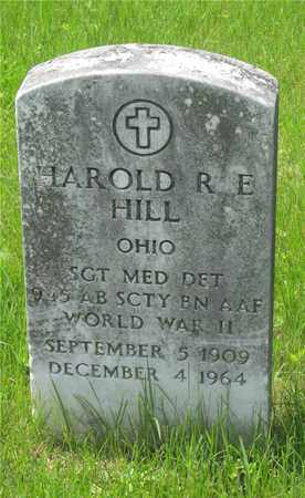 HILL, HAROLD R.E. - Franklin County, Ohio | HAROLD R.E. HILL - Ohio Gravestone Photos