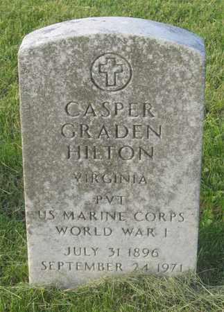 HILTON, CASPER GRADEN - Franklin County, Ohio | CASPER GRADEN HILTON - Ohio Gravestone Photos
