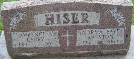 HISER, LAWRENCE VERNON - Franklin County, Ohio | LAWRENCE VERNON HISER - Ohio Gravestone Photos