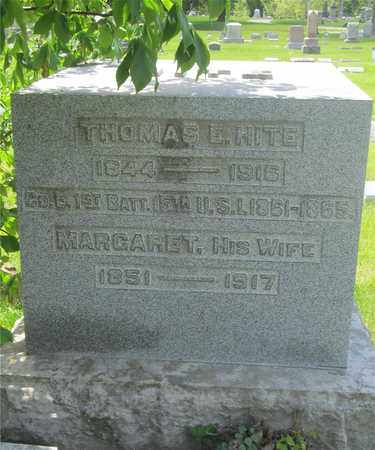 HITE, THOMAS E. - Franklin County, Ohio | THOMAS E. HITE - Ohio Gravestone Photos