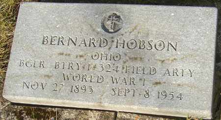 HOBSON, BERNARD - Franklin County, Ohio | BERNARD HOBSON - Ohio Gravestone Photos