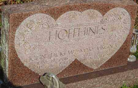 HOFFHINES, MARY - Franklin County, Ohio | MARY HOFFHINES - Ohio Gravestone Photos