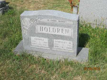 HOLDREN, GEORGE - Franklin County, Ohio | GEORGE HOLDREN - Ohio Gravestone Photos