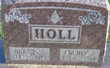HOLL, EBERLY J - Franklin County, Ohio | EBERLY J HOLL - Ohio Gravestone Photos