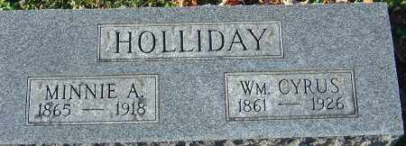 HOLLIDAY, WILLIAM CYRUS - Franklin County, Ohio | WILLIAM CYRUS HOLLIDAY - Ohio Gravestone Photos