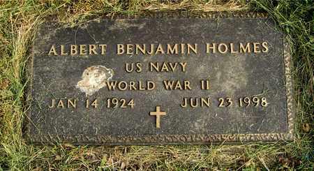 HOLMES, ALBERT BENJAMIN - Franklin County, Ohio | ALBERT BENJAMIN HOLMES - Ohio Gravestone Photos