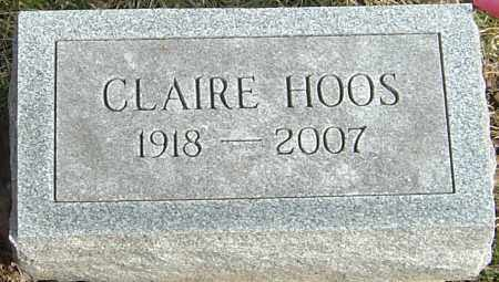 HOOS, CLAIRE - Franklin County, Ohio | CLAIRE HOOS - Ohio Gravestone Photos