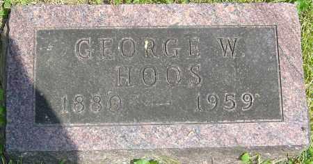 HOOS, GEORGE W - Franklin County, Ohio | GEORGE W HOOS - Ohio Gravestone Photos