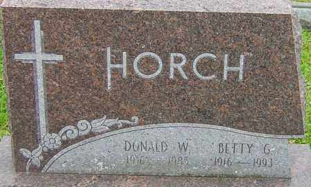 HORCH, DONALD - Franklin County, Ohio | DONALD HORCH - Ohio Gravestone Photos