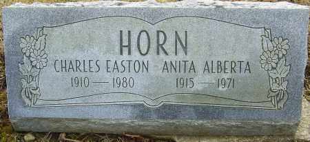HORN, CHARLES EASTON - Franklin County, Ohio | CHARLES EASTON HORN - Ohio Gravestone Photos